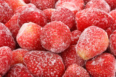 Background from  frozen strawberry Stock Photography