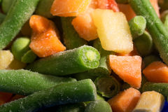 Background of Frozen vegetables Royalty Free Stock Photos