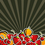 Background with fruit Stock Images