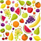 Background, fruit, berries, white, colored. Royalty Free Stock Photography