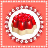 Background with fruit jelly dessert with berries Royalty Free Stock Photos