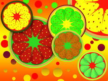 Background of fruit lobes Royalty Free Stock Photos