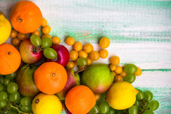 Background fruit market wooden autumn food nature fall Stock Photography