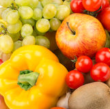 Background of  fruit and vegetables Stock Photo