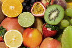 Background from fruits Stock Photo