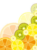 Background with fruits Royalty Free Stock Photos