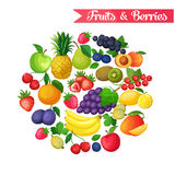 Background with fruits and berries Royalty Free Stock Photography