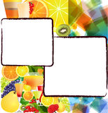 Background with fruits and cocktails Royalty Free Stock Photography