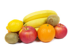 Background of fruits and vegetables. Background of fresh fruits and vegetables Royalty Free Stock Photos