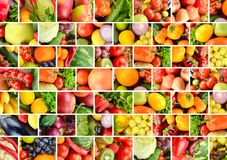 Background fruits and vegetables separated vertical and horizontal lines. Background fruits, vegetables and berries separated vertical and horizontal lines in royalty free stock image