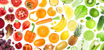 Background of fruits and vegetables Royalty Free Stock Photography
