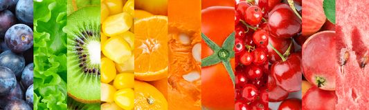 Background of fruits and vegetables Stock Photos