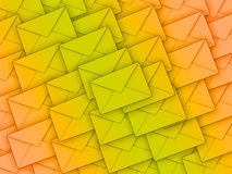 Background full of envelopes Royalty Free Stock Images