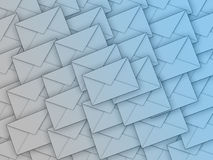 Background full of envelopes Stock Photo