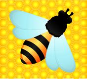 Background with funny bee Stock Images