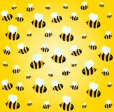 Background with funny bees Royalty Free Stock Photos