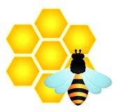 Background with funny bees Stock Images