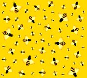 Background with funny bees Stock Photography