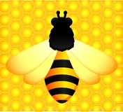 Background with funny bees Stock Photos