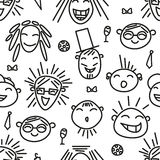 Background of funny people. Black and white background of funny people Royalty Free Stock Photos