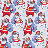 Background of funny santa smile Royalty Free Stock Image