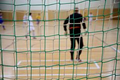 The background of futsal goalkeeper Stock Photos