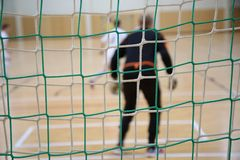 The background of futsal goalkeeper Royalty Free Stock Image
