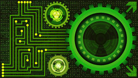 Background of futuristic technology in green shades Stock Images