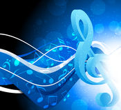 Background with g-clef Stock Photos
