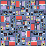 Background gadget and Other electronics flat desig Royalty Free Stock Photography