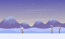 Background game scenery at winter Royalty Free Stock Photography