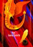 Background for Ganesh Chaturthi Stock Image