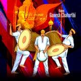 Background for Ganesh Chaturthi Stock Photo