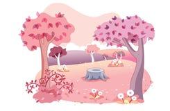 Background garden cartoon Stock Images