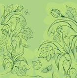 Background with garden plants. Ready to place your text Stock Photo