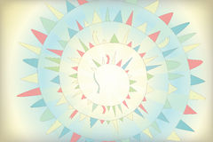 Background with garland. Vector spiral background with garland Stock Photo