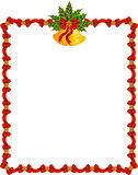 Background with garland and bells. Royalty Free Stock Photos