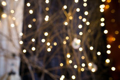 Background with garland bokeh (christmas ). Background with garland bokeh christmas royalty free stock photography