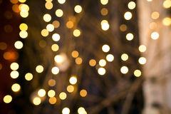 Background with garland bokeh (christmas ) big circles Royalty Free Stock Photography