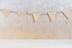 Background with garland. Of small paper flags Stock Image