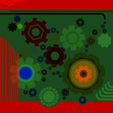 Background with gears. Art deco background with gears Stock Photography