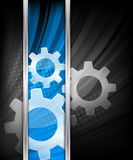 Background with gears Royalty Free Stock Photography