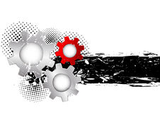Background with gears Royalty Free Stock Images