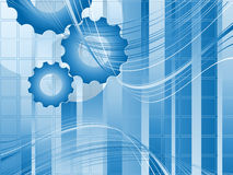 Background with gears Royalty Free Stock Photo