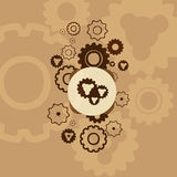Background with gears. Stock Photos