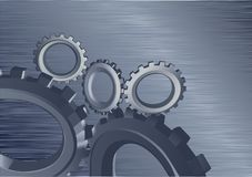 Background with gears. Engine gear wheels, industrial background stock illustration