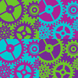 Background with gears. Colorful background with gears for design. Vector illustration Stock Photo