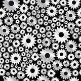 Background with gears pattern Stock Photography