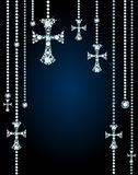 Background With Gems And Diamond Crosses Royalty Free Stock Image
