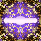 Background with  gems and gold ornaments Royalty Free Stock Image